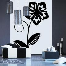 Decorate walls Retro flower