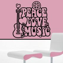 Walls decoration peace and love
