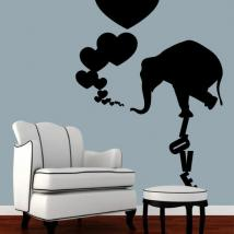 Decoration walls elephant Love