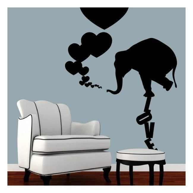 Decoration walls elephant Love