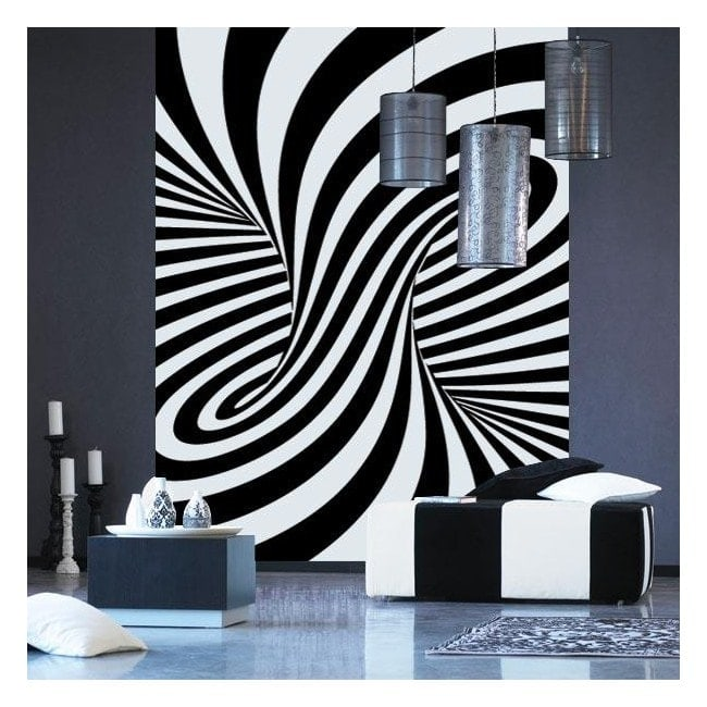 Decorate walls optical illusion