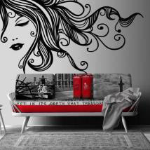 Decorate walls feminine silhouette