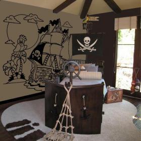 Decorate walls pirate ship