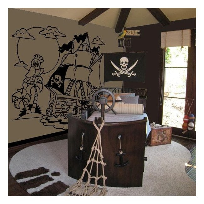 Decorate walls pirate ship