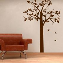 Decorate walls autumnal tree