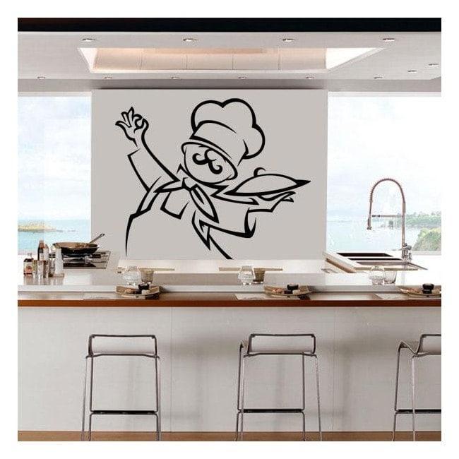 Decorate walls kitchen Chef