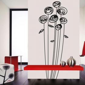 Wall flower decoration