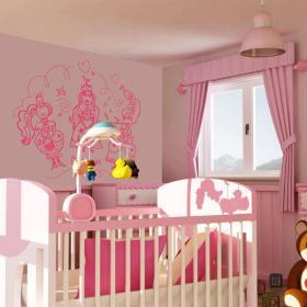 Princess wall decoration