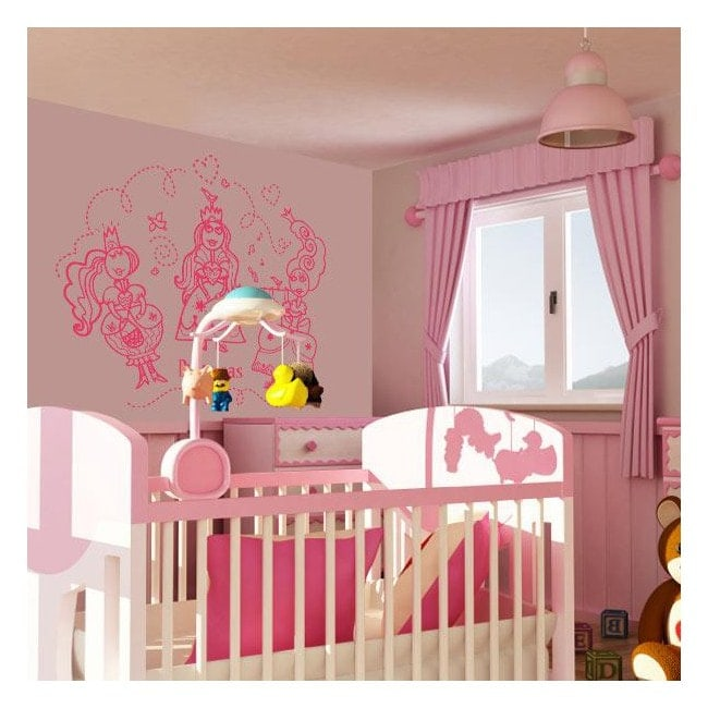 Princess wall decoration English 452