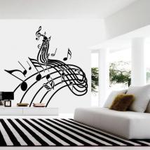 Decorative vinyl music staff