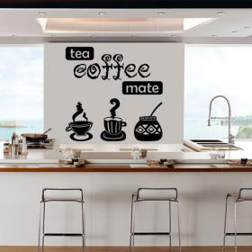 Vinyl decorative tea coffee Mate
