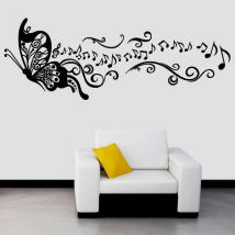 Decorative vinyl music Butterfly