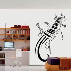 Decorative vinyl Piano and musical notes