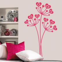 Decorative vinyl flowers of love