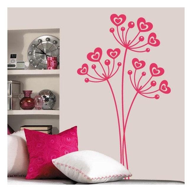 Decorative vinyl flowers of love