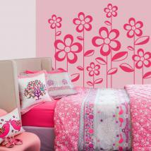 Spring flowers wall decor