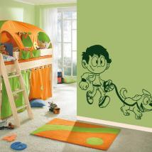Boy mascot wall decoration