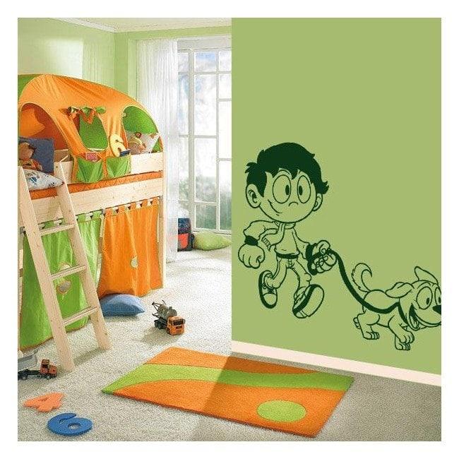 Boy mascot wall decoration