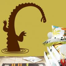 Decoration walls monster of Loch Ness