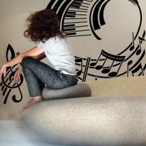 Decoration walls Musical staff
