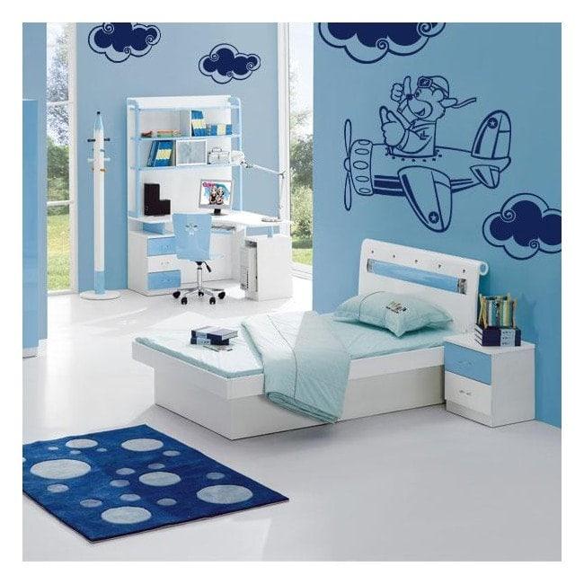 Walls decoration child aircraft