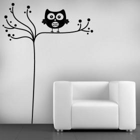 Decorative vinyl minimalist OWL