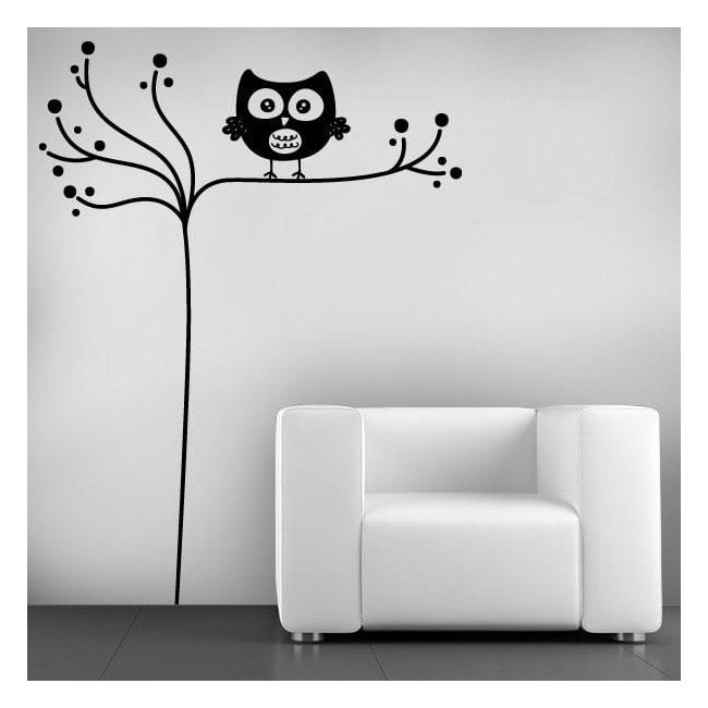 Decorative vinyl minimalist OWL