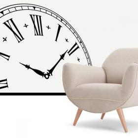 Decorative vinyl clock