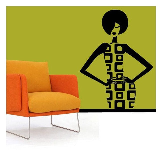 Decorative vinyl Retro woman