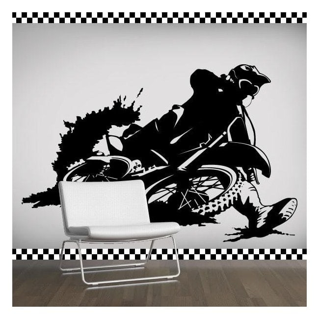 Decorative vinyl Motocross