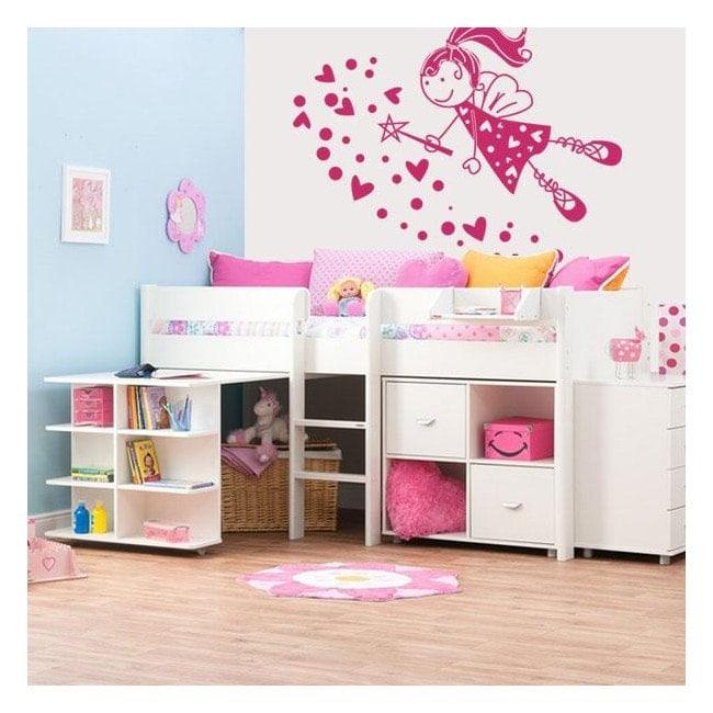 Decorative vinyl fairy child