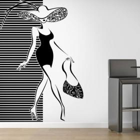 Decorate walls woman silhouette