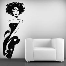 Decorative vinyl woman Deluxe