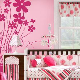 Vinyl decorative Floral joy