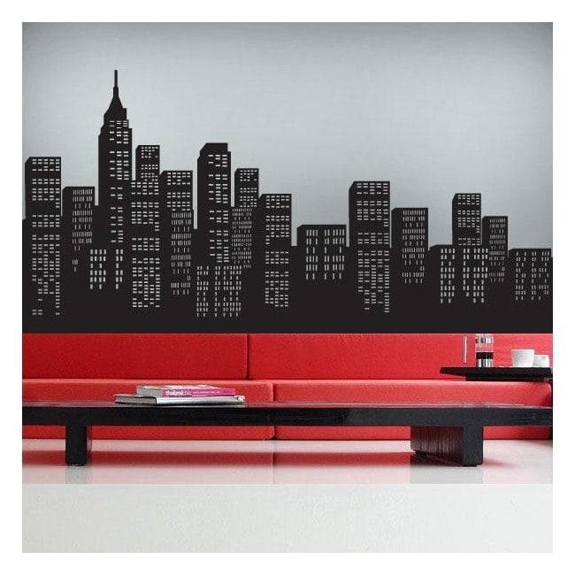 Decorative vinyl skyscrapers