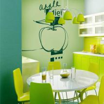 Decorative vinyl Apple Diet English 576