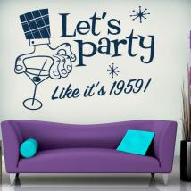 Decorative vinyl Lets Party