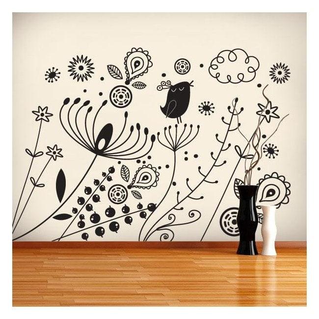 Sticker wall art Floral