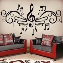 Decorative vinyls Musical filigree