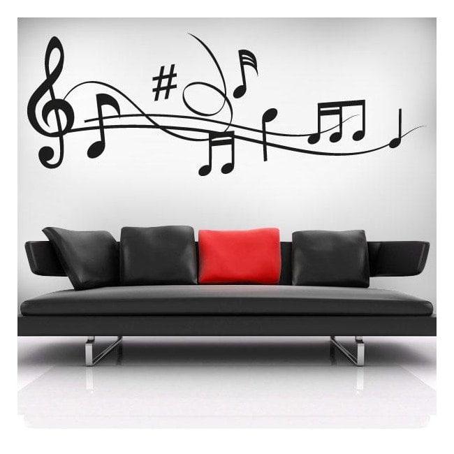 Decorative vinyls Musical staff