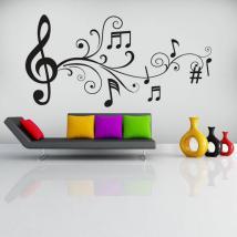Vinyl decorative musical notes