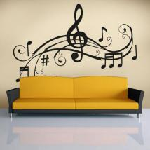 Decorative vinyls Musical detail