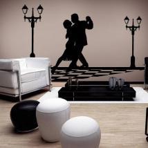 Luminescent panels dividing fluowall Tango