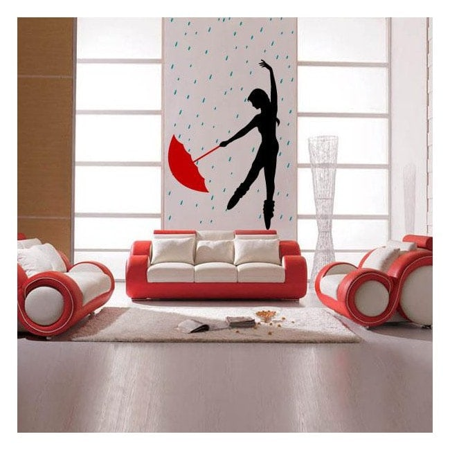 Decorative dancing in the rain