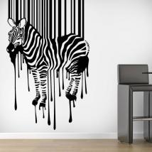 Luminescent panels dividing fluowall code Zebra