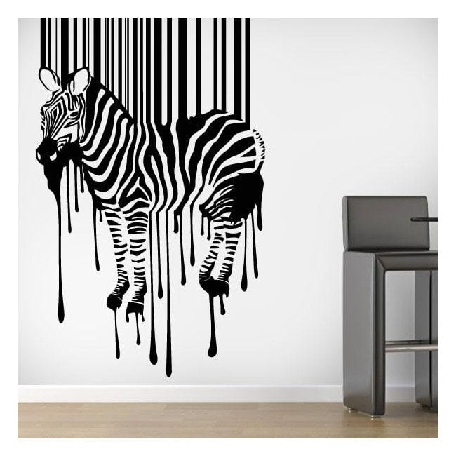 Luminescent panels dividing fluowall code Zebra