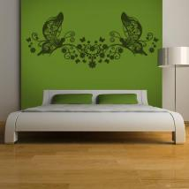 Floral bed head decorative vinyl