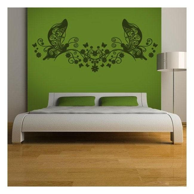 Floral bed head decorative vinyl