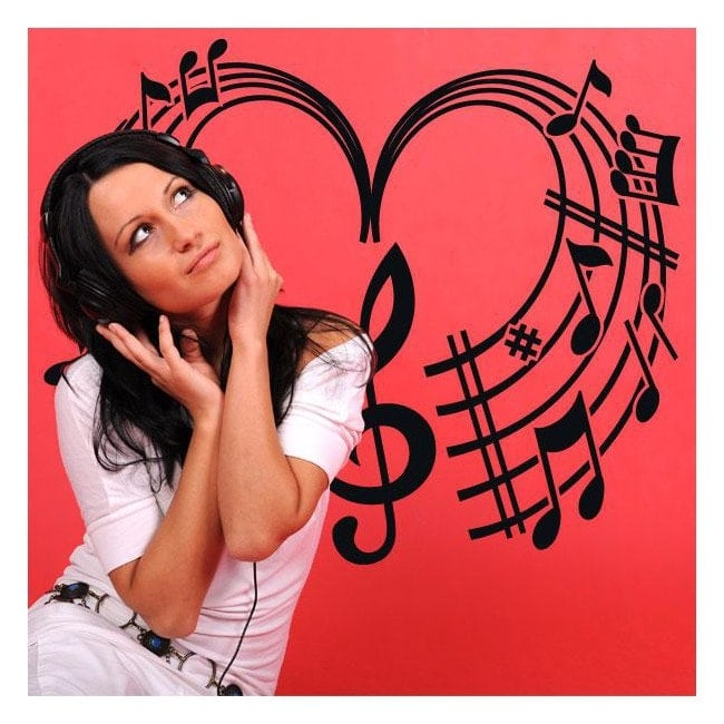 Decorative vinyls Musical heart