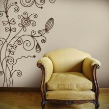 Decorative vinyl flowers Vintage